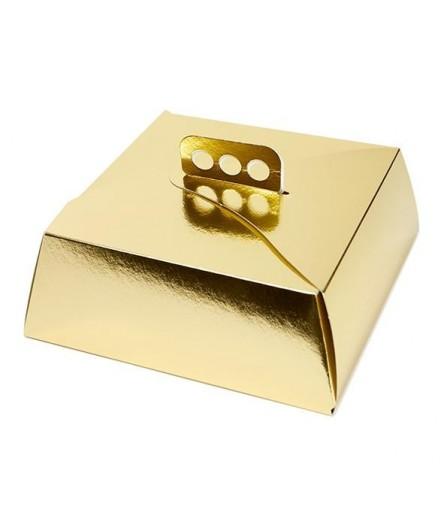 Cajas tarta oro